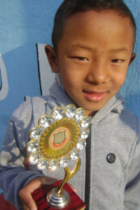 Angel  Chetin Sherpa with his trophy
