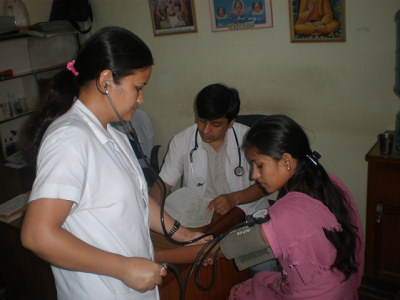 Sarvana at hospital health checkup